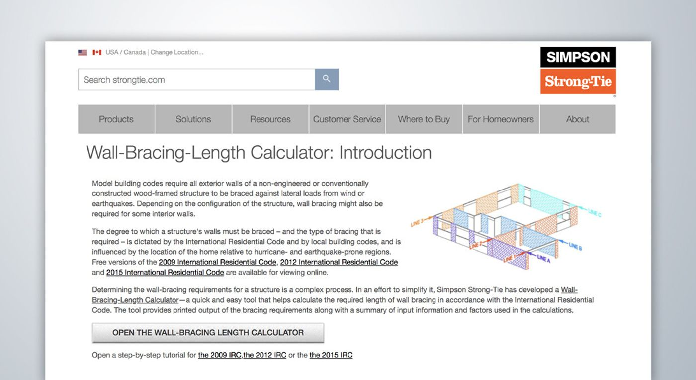 Wall-Bracing Length Calculator