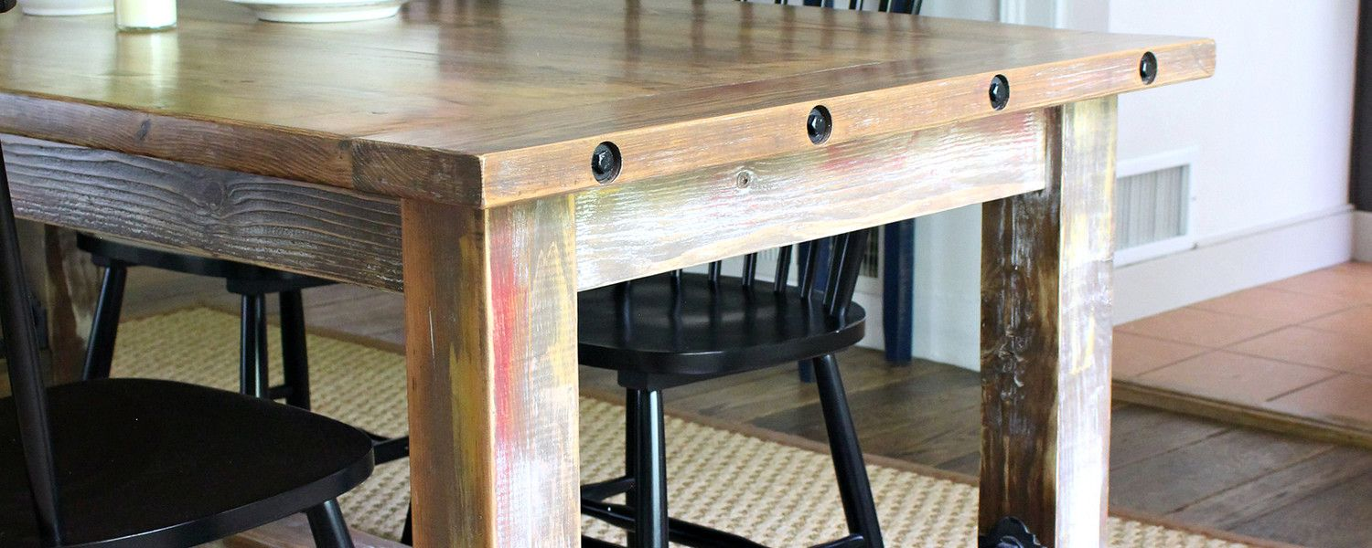 Faux Barnwood Table