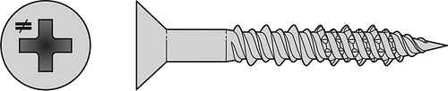 Marine Screw — Flat Head