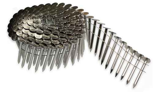 15° Wire Coil, Full Round Head, Smooth-Shank Roofing Nail