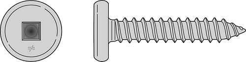 Pancake-Head Screw