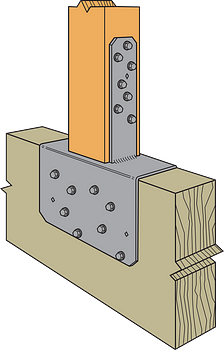 Figure 5 — Typical (Inverted) CCQ44SDS2.5 Post-to-Beam Installation