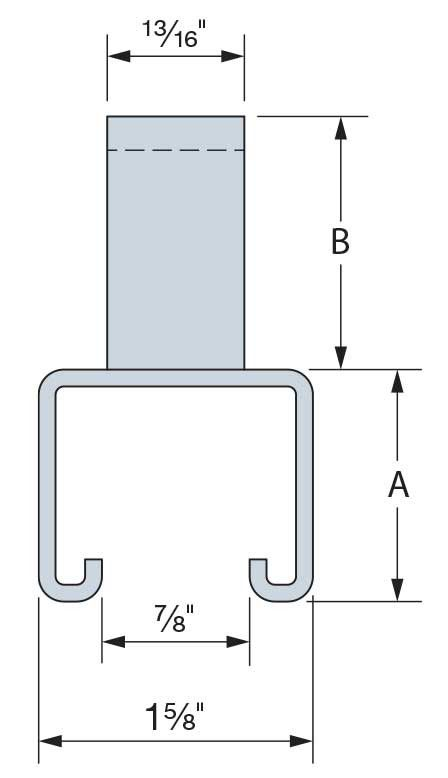 12 ga. 33 ksi Concrete Insert