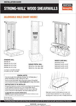 T-L-SWGUIDE13 – Strong-Wall® Wood Shearwall Installation Guide