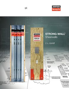 C-L-SW17 – Strong-Wall® Shearwalls