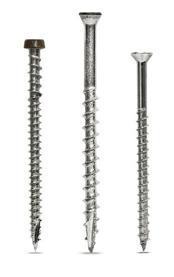 DCU, DWP, and TrimHead Stainless Steel Deck Screws