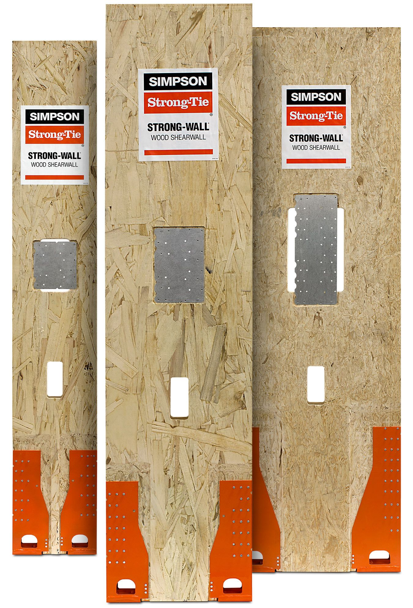 Wood Shearwalls Product Kit Front - WSW-front-3walls-kit