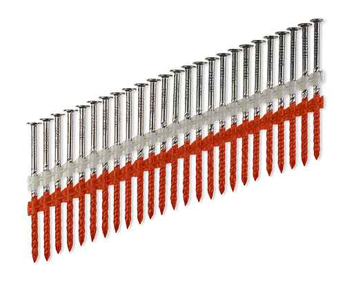 20°–22° Plastic Strip, Full Round Head, Screw-Shank Nail