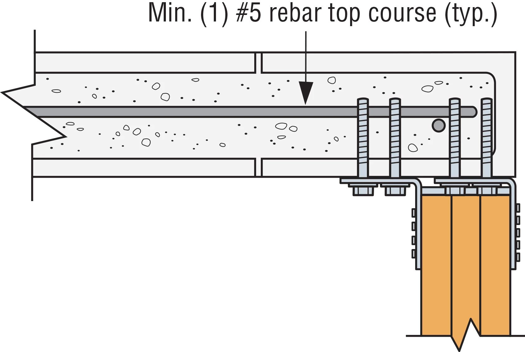 Typical Concealed Flange HGUM Installation at End of Wall