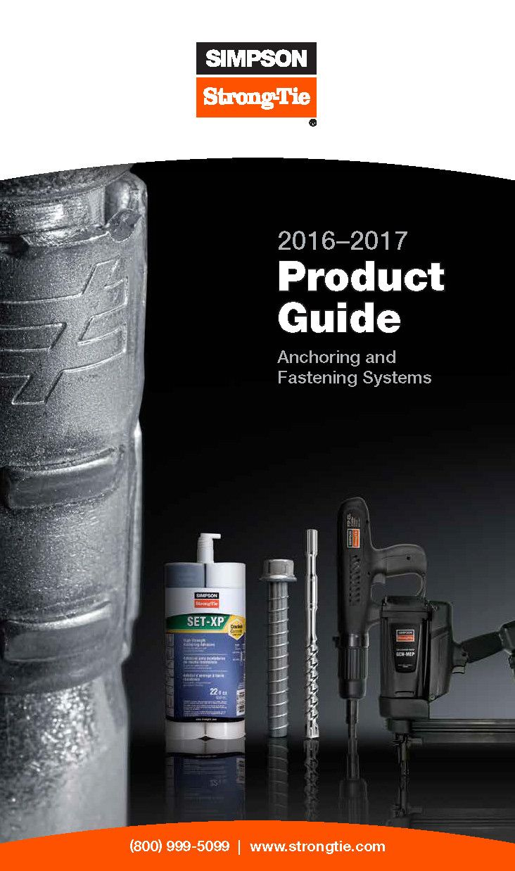 S-A-PG16 — 2016-2017 Anchoring and Fastening Systems Product Guide