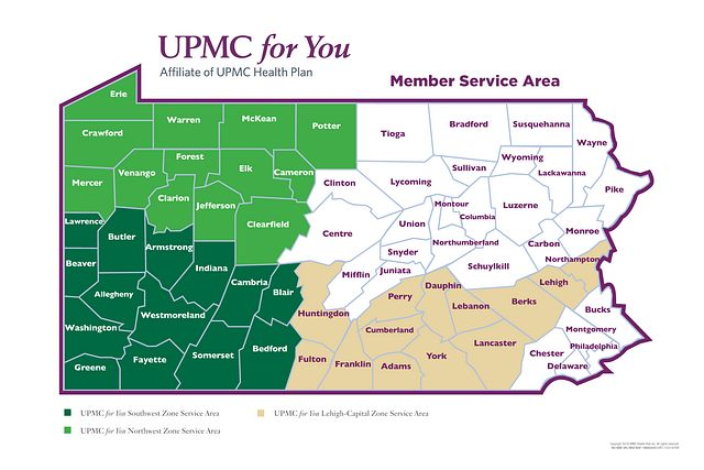 Member Service Area Map (figure caption follows).