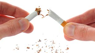 cigarettes broken in half