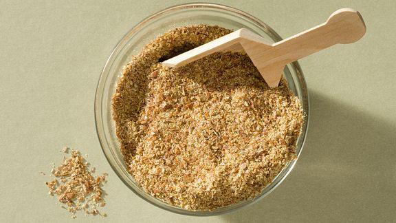 Jar full of flax seeds