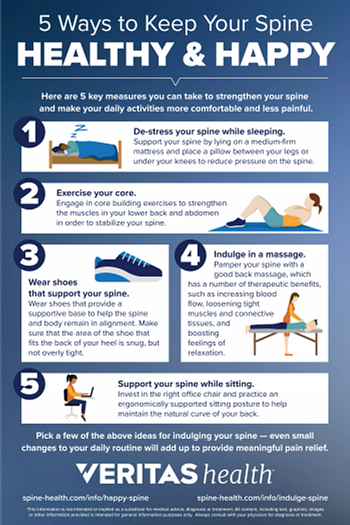 Infographic - 5 Ways to Keep Your Spine Healthy and Happy