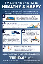5 Ways to Keep Your Spine Healthy and Happy Infographic