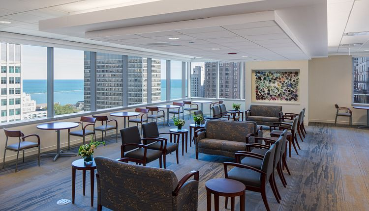 Northwestern Medicine Spine Center Waiting Area