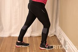 standing calf muscle stretch