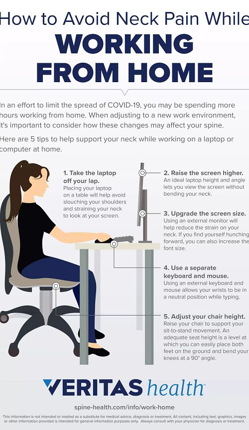 How to Avoid Neck Pain While Working from Home