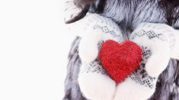 Heart Winter Mittens