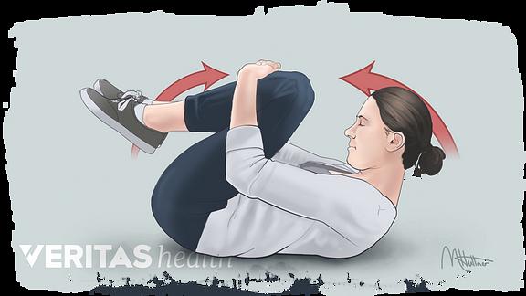 Woman performing a back flexion