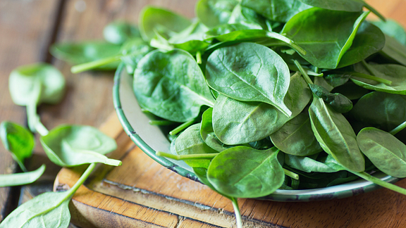 Image of a bowl of spinach