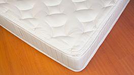 Close up of a plush mattress.