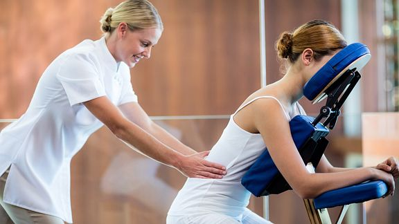 Lower back pain massage therapy