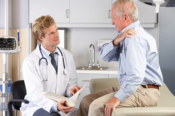 Doctor consultation with senior patient