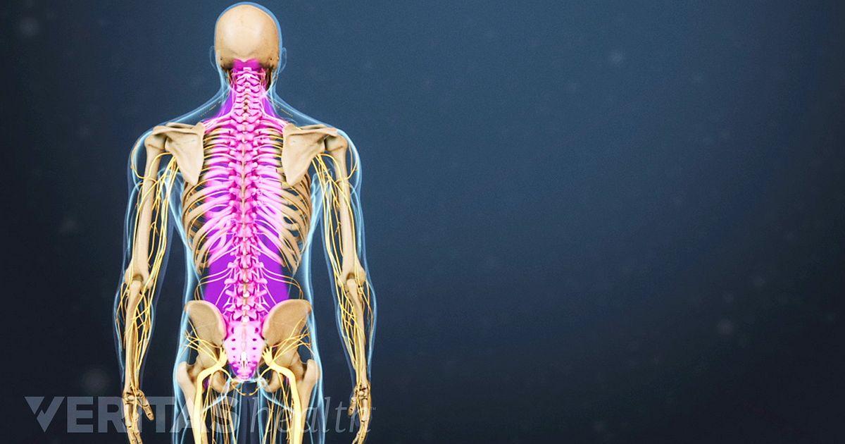 Tingling hot top spine bottom neck