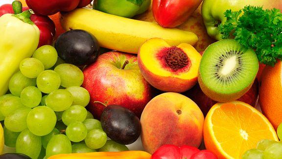 Closeup of assorted fruits