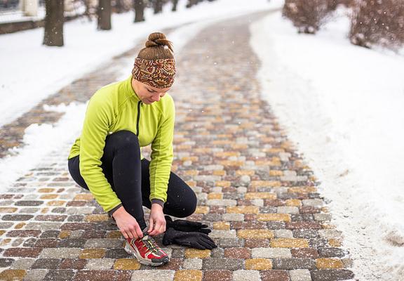 runner in the winter