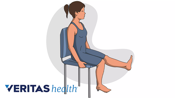 illustration of chair exercise for thigh and hip strengthening