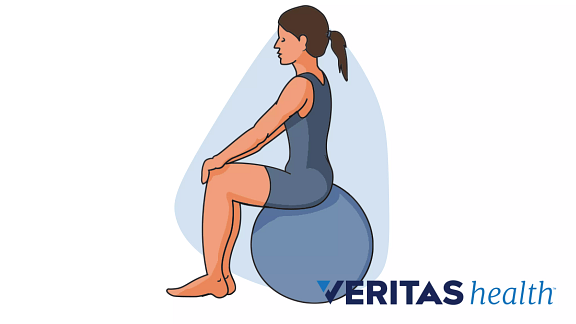 illustration of 30 minute sit exercise ball exercise