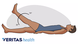 Illustration of a person performing the straight leg raise test for sciatica diagnosis