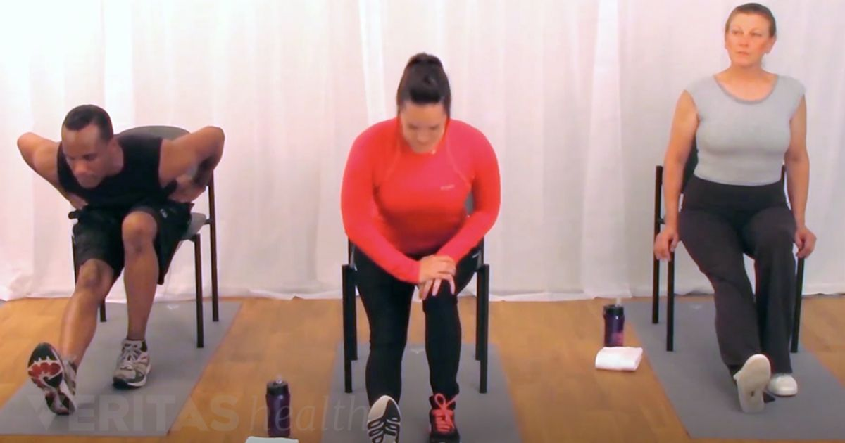 Seated Chair Hamstring Stretch For Low Back Pain Relief Video