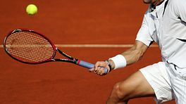 Forehand tennis swing