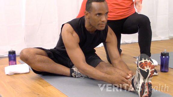 Hurdler stretch video