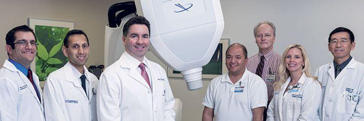Dr. Lipani and his non-invasive Cyberknife radiosurgery team.