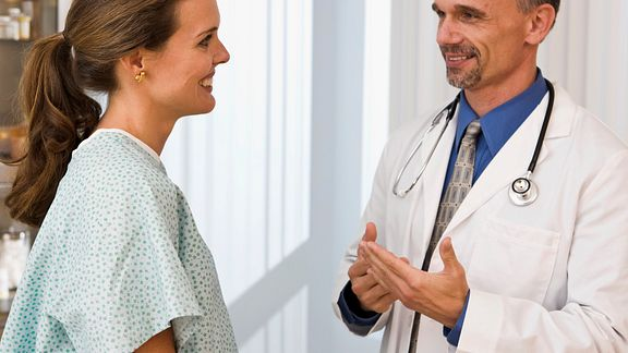 Consultation with doctor and patient