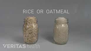 Mason jars of rice or oatmeal to fill sock.