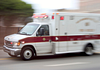 Image of an ambulance en route