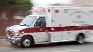 Image of an ambulance en route