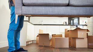 Moving a couch into an apartment