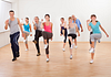 Image of a group of people in an aerobics class