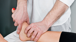 Close up image of ankle manipulation