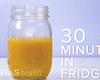 Mason jar of capsaicin cream, 30 minutes in the fridge