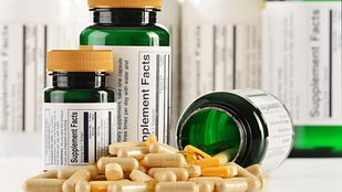 Bottles of nutritional supplements