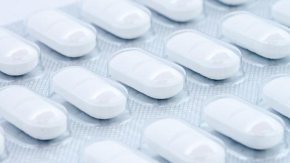 Blister pack of multiple pills.