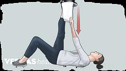 towel hamstring stretch illustration