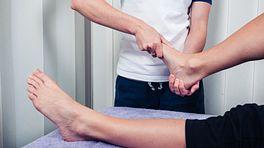 Massage of patient's foot